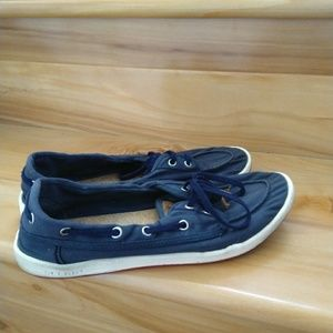 Sperry blue flats size 8